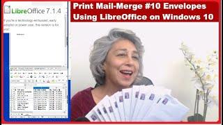 Print Mail-Merge #10 Envelopes Using LibreOffice on Windows 10