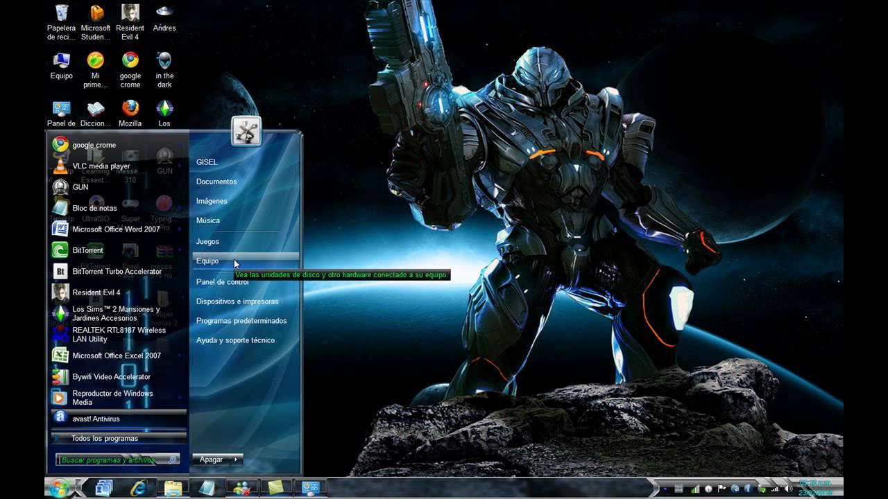 Super temas para windows 7 pack youtube - Fondos de pantalla de iron man en 3d ...