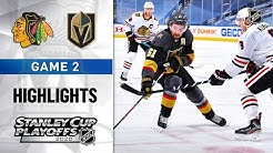 NHL Highlights | First Round, Gm 2: Blackhawks @ Golden Knights - Aug. 13, 2020