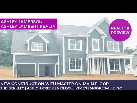 New Construction Home For Sale In Mooresville NC | The Berkley | Ashlyn Creek | Niblick Homes