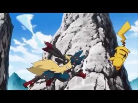 Ash vs Korrina (Mega Lucario vs Pikachu)