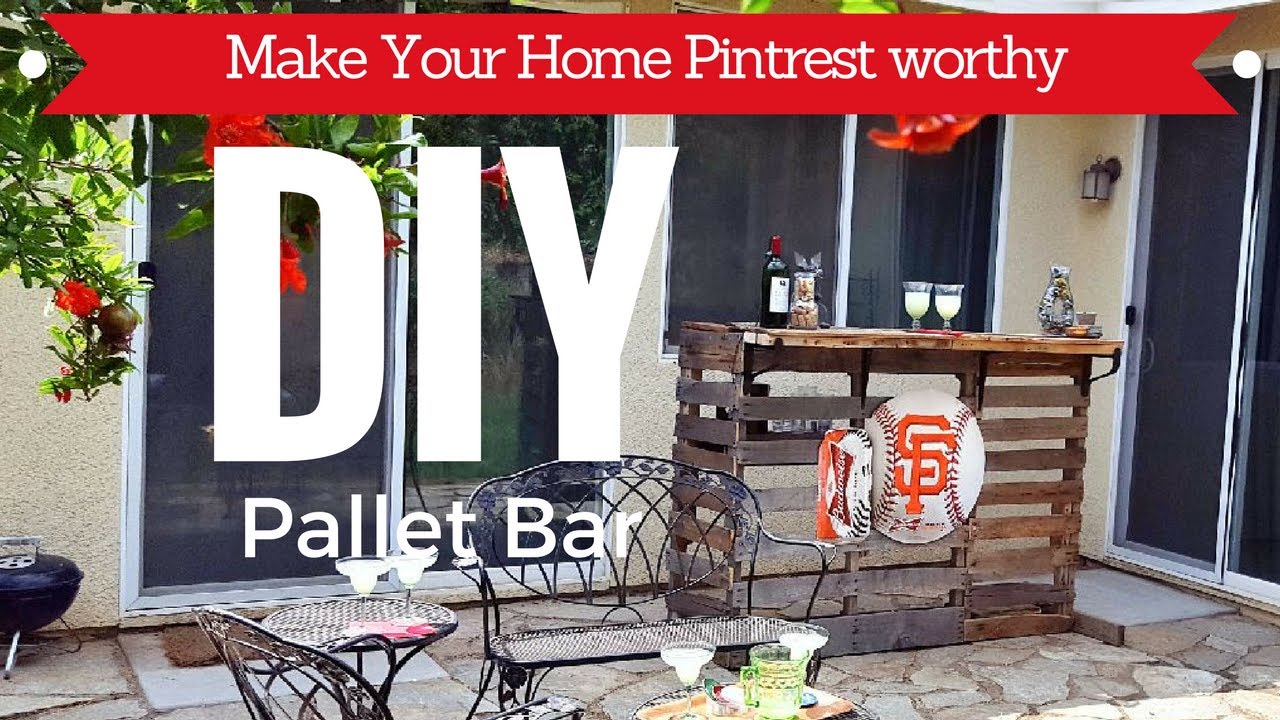 DIY PALLET BAR - YouTube