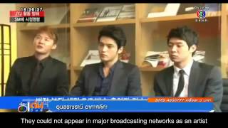 eng sub 140919 jyj on thai evening news iag changing the lives of its performing artists