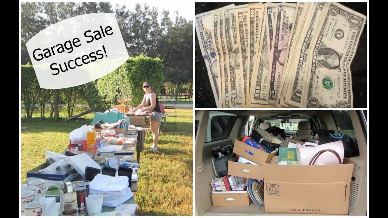 Great Successful Garage Sale {Vlog}