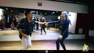 Salsa Line style workshop Luis and Erika at HSW-2019| by Dance Vida |