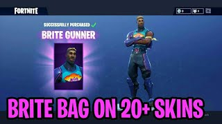 "Fortnite: ""Brite Bag"" Showcased On 20+ SKINS! - Fortnite Battle Royale NEW Brite Bag Back Bling!"