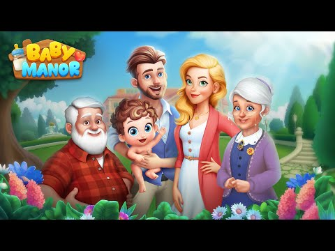 Baby Manor Match-3 Game with Warm Family Story