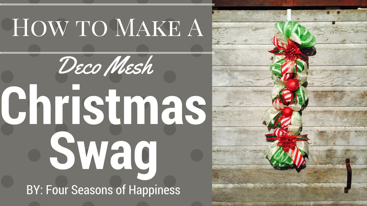 DIY SWAG, DIY deco mesh swag, how to make Christmas swag, How to ...