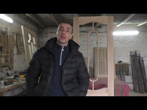 Дверь под стекло (рамка) / Wooden door production
