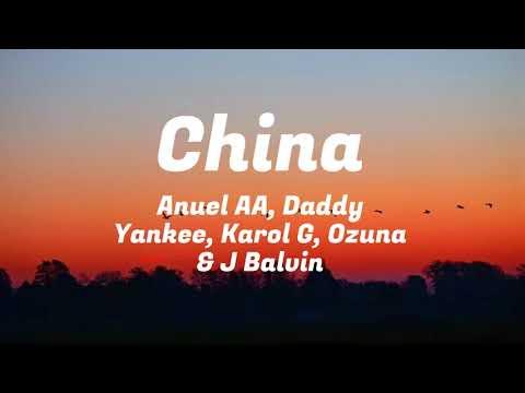 CHINA  Anuel AA Daddy Yankee Karol G Ozuna u0026 J Balvin