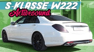 Mercedes Benz S Klasse S350 BT Diesel V8 Motorsound S63 S65 AMG Auspuffanlage Schawe Car Design