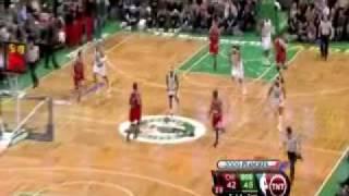 Derrick Rose & Chicago Bulls vs  Boston Celtics game 2 round 1 2009 NBA Playoffs