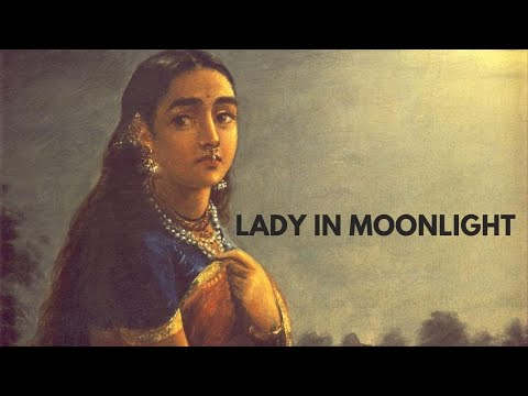 Lady in Moonlight by Raja Ravi Varma Painting
