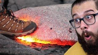 O que acontece se alguém ANDAR na lava quente?