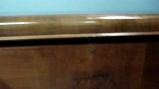 Antique Boshart Cedar Chest - Image Of Osama Bin Laden In Burl Www.auctionbayonline.com