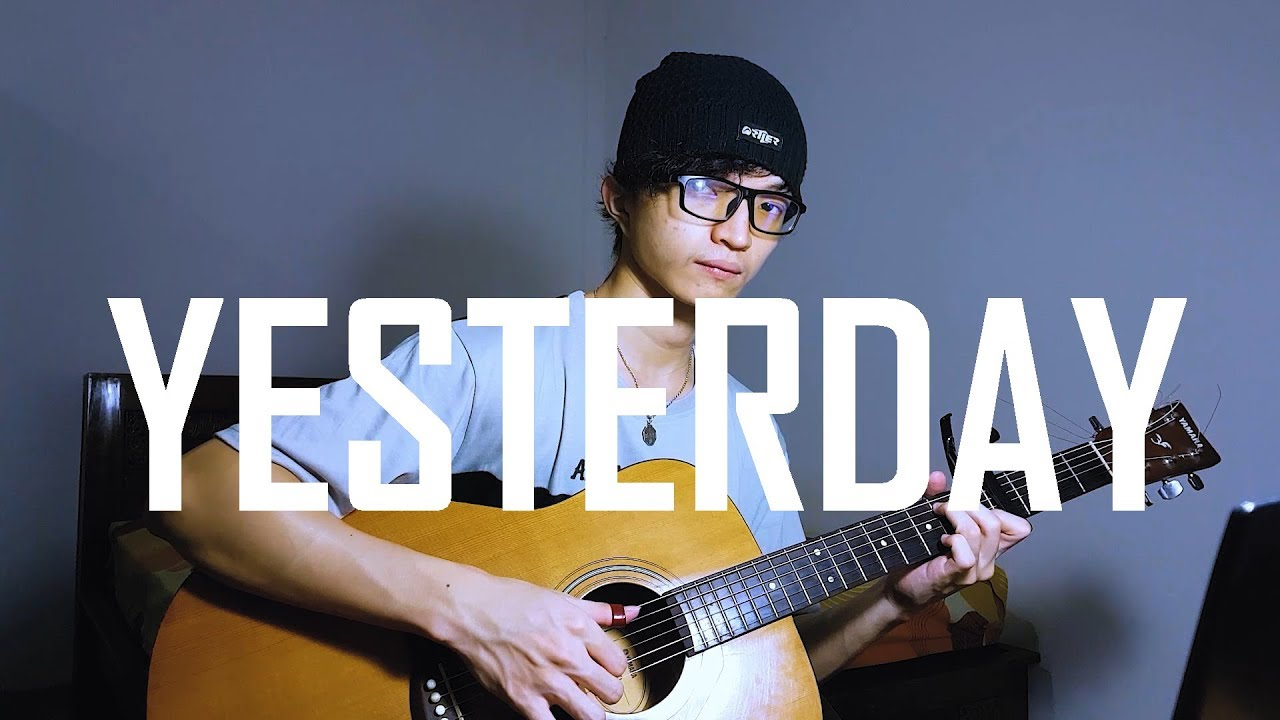 Yesterday The Beatles Himesh Patel Emotional Sad Fingerstyle Guitar Cover By Rendy Yap Youtube