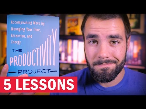 "5 Lessons from ""The Productivity Project"" by Chris Bailey"