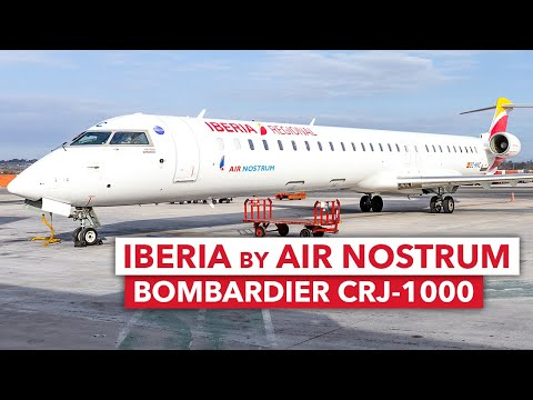 Review: Iberia Regional by Air Nostrum | CRJ-1000 | Madrid - Zurich | Economy Class | 4K TRIP REPORT