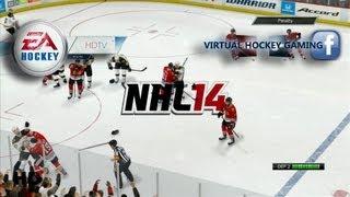 NHL 14 demo: CPU v.s. CPU gameplay broadcast (1080p)