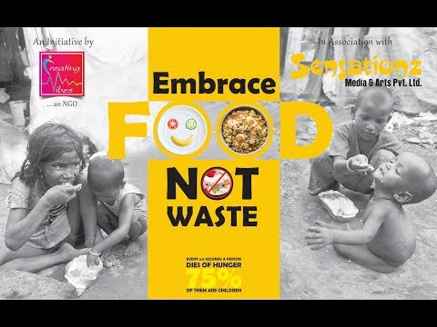 "Kids play on ""Embrace Food Not Waste"""