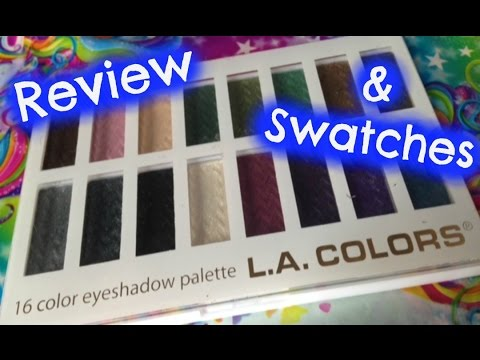 LA Colors 16 Color Smokin Eye Shadow Palette Review and Swatches ...