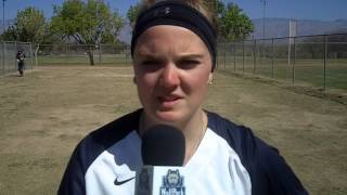 Bridget Jost talks about her team and pitching