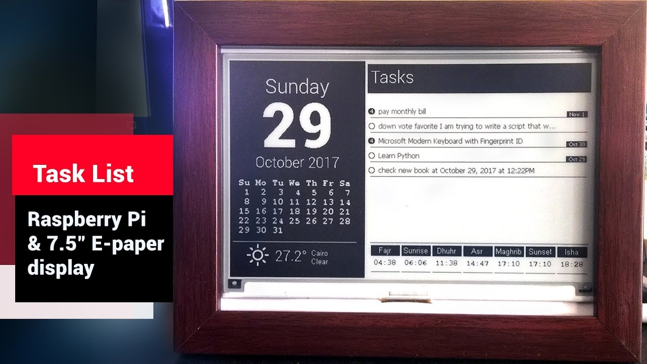 Use a Raspberry Pi and E-Ink Display to Build a Desktop Monitoring