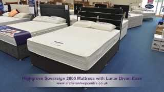 Highgrove Sovereign 2000 Mattress With Lunar Divan Base