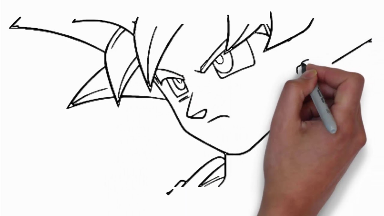Coloring Pages-how to draw goku super saiyan blue - easy ...