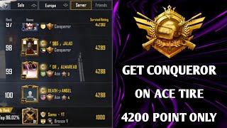 GET CONQUEROR ON ACE 4200 POINT ONLY | PUBG MOBILE SEASON 14 CONQUEROR TIPS & TRICK | SOMU GAMING