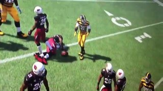 Mike Vick gets Murdered by Bethal, Minter, and Powers on Cardinals!!!!!!! ( madden 16 )