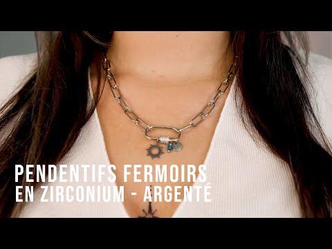 Créer des bijoux incontournables avec des pendentifs fermoirs en zirconium - Argenté