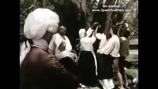 Colonial era female whipping scene