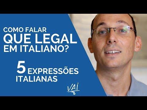 """Como falar """"que legal"""" em italiano? - 5 expressões italianas I Vou Aprender Italiano"""