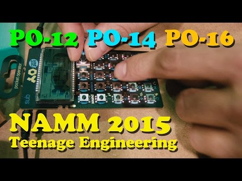 Teenage Engineering's PO-12, 14 and 16 NAMM 2015
