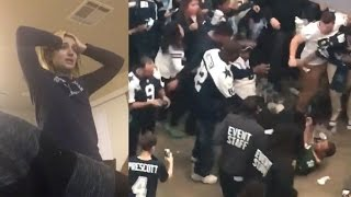 Repeat youtube video Cowboys Fans FIGHT Packers Fan, Break TVs and Cry After Playoff Loss to Green Bay