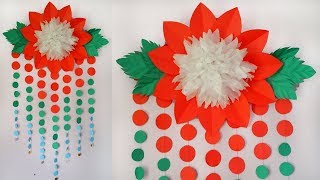 DIY: Room Decor Ideas!!! How to Make Beautiful Paper Flower Wall Hanging/ Giant Psper Flowers!!!