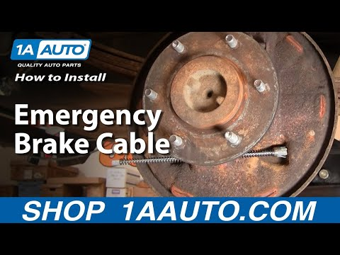 How To Install Replace Emergency Brake Cable