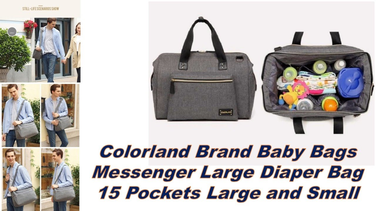 Colorland Brand Baby Bags Messenger Large Diaper Bag 15 Pockets And Small You