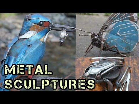 Scrap Metal Art Sculptures for Animals, Birds & Insects