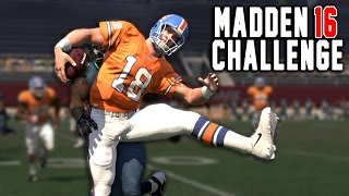 Peyton Manning The Running Back! Madden 16 NFL Career Challenge! ( Setup/Beginning )