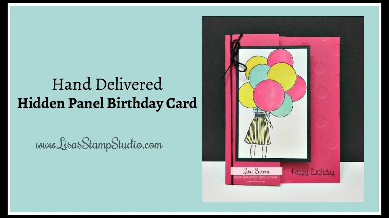 Hand Delivered Hidden Panel Birthday Card