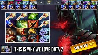 THIS IS WHY WE PLAY DOTA 2! Epic Sh*t 16 Slot 4 Rapiers 10x Scepter Game Most Crazy Gameplay of Dota
