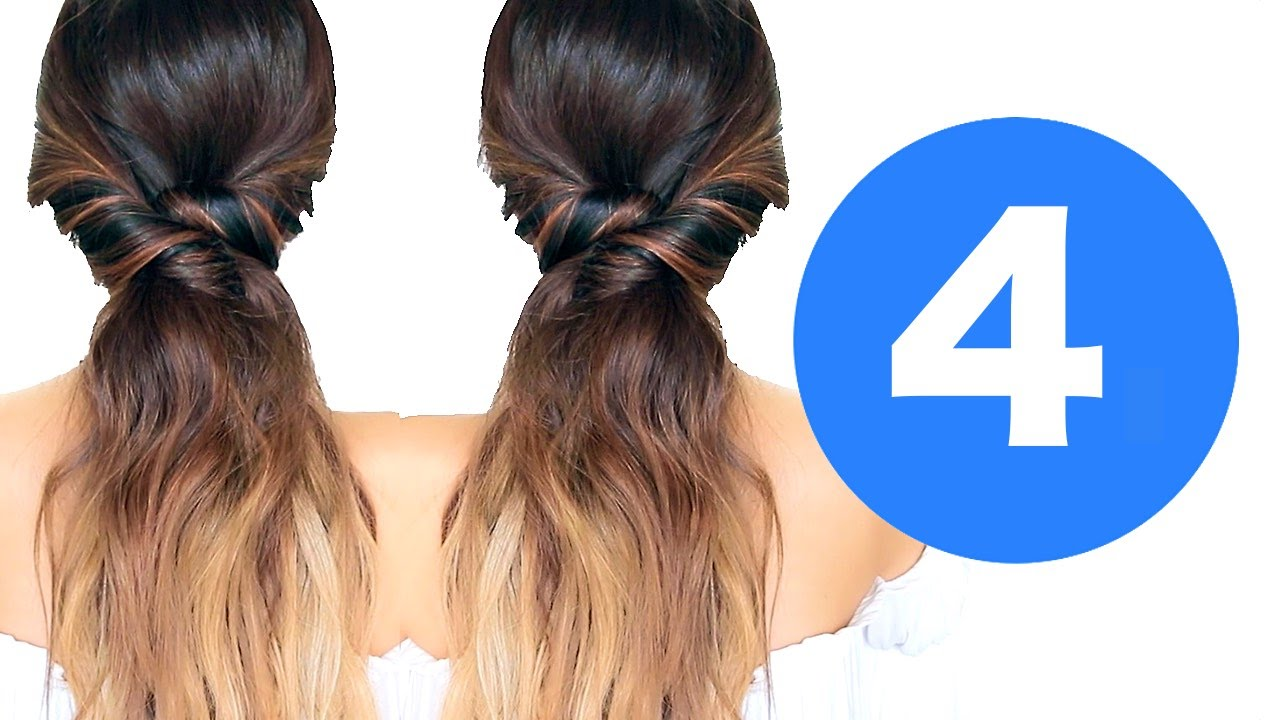 4 lazy winter hairstyles girls