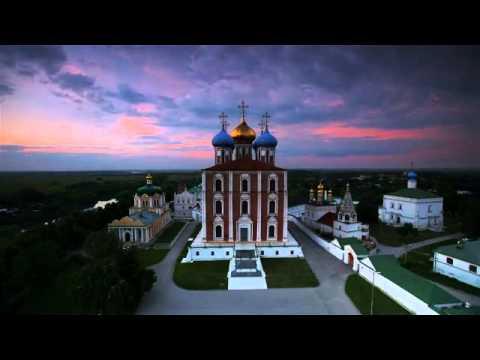 Ryazan リャザン Kremlin Assumption Cathedral At Night in Summer