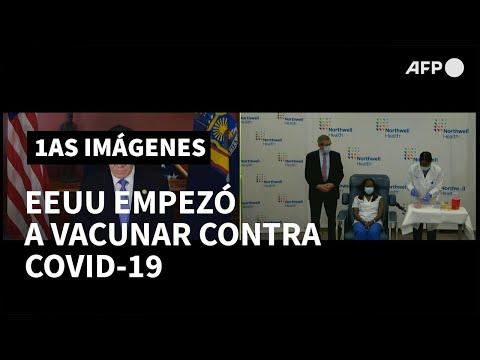 AFP Español: Trabajadora de la salud de Nueva York primera vacunada contra covid-19 en EEUU   AFP