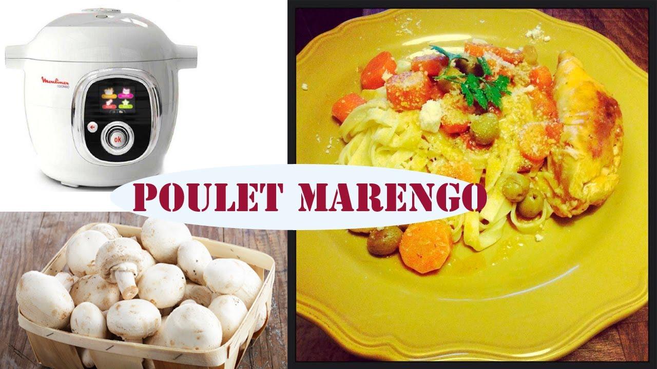Recette du poulet fa on marengo avec le cook o de moulinex youtube - Poulet marengo recette ...