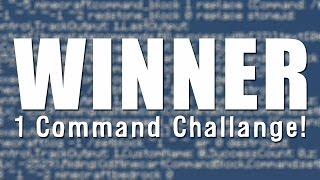 1 Command Block Challenge - Winner Announcement!