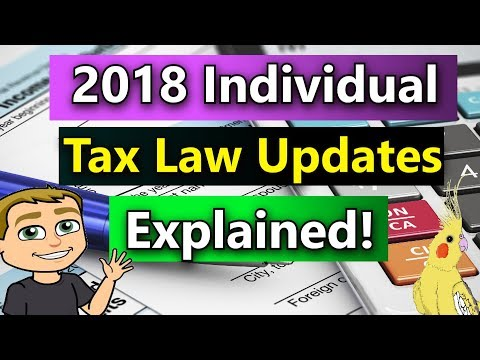 2018 Income Tax Changes For Individuals (2018 Federal Income