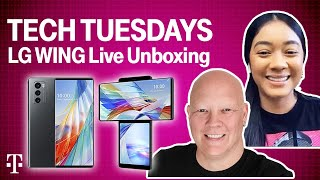 LG Wing Live Unboxing! | Tęch Tuesdays Ep. 6 | T-Mobile